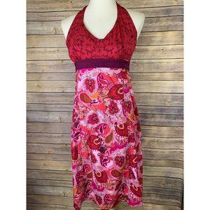 Athleta Pack Everywhere Dress Small Red Paisley
